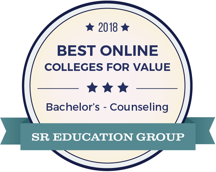 Counseling-Top Online Colleges-2018-Badge