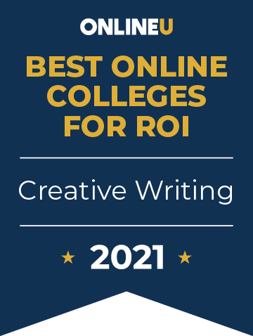 2021 Best Online Colleges Offering Bachelor's Degrees in Creative Writing Badge