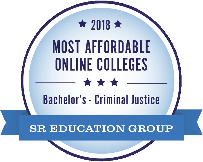 Criminal Justice-Most Affordable Online Colleges-2018-Badge