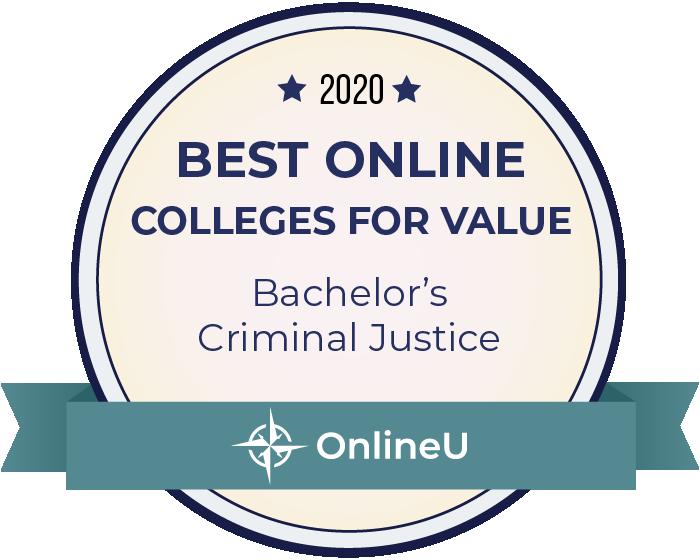 2020 Best Online Colleges Offering Bachelor's in Criminal Justice Badge
