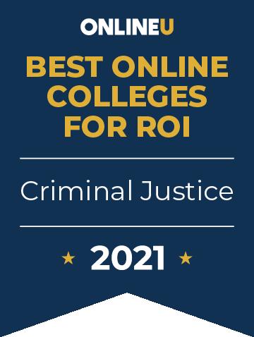 2021 Best Online Colleges Offering Bachelor's Degrees in Criminal Justice Badge