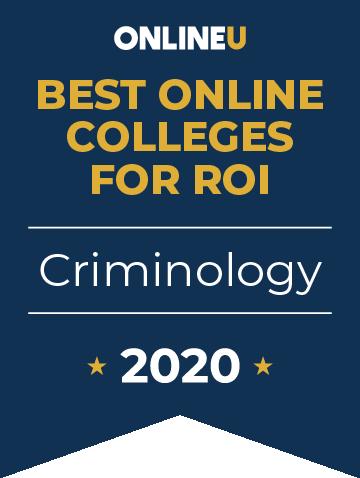2020 Best Online Colleges Offering Bachelor's in Criminology Badge