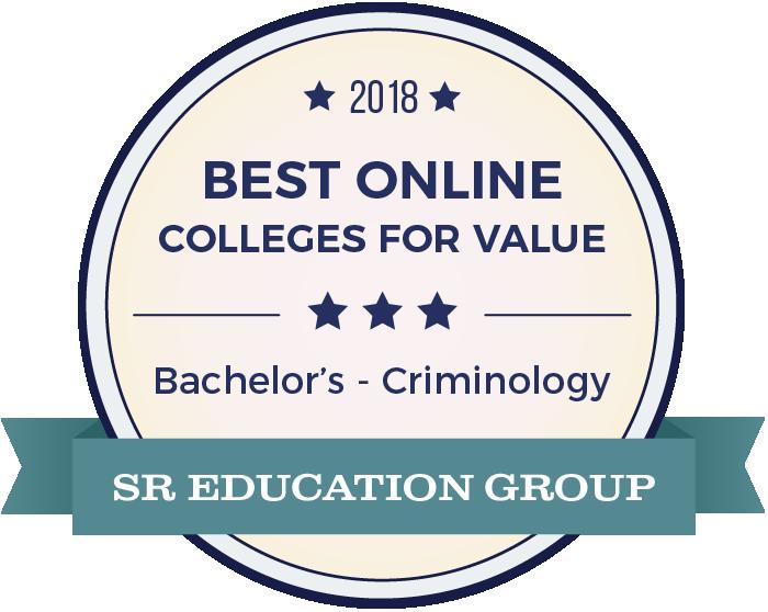 Criminology-Top Online Colleges-2018-Badge