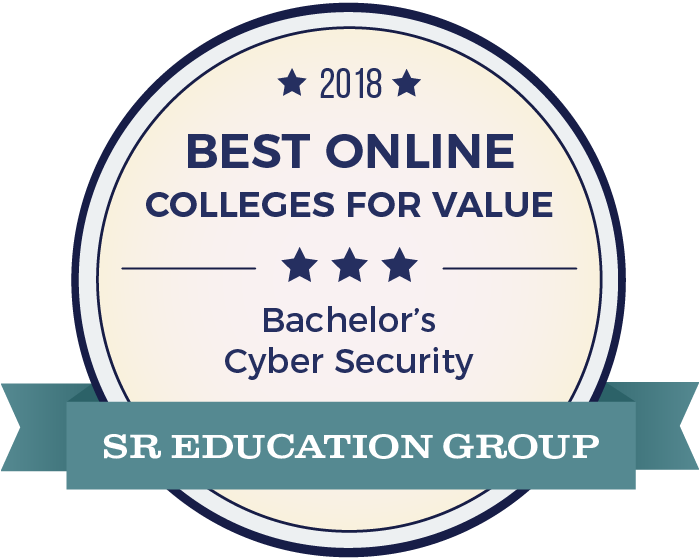 Cyber Security-Top Online Colleges-2018-Badge