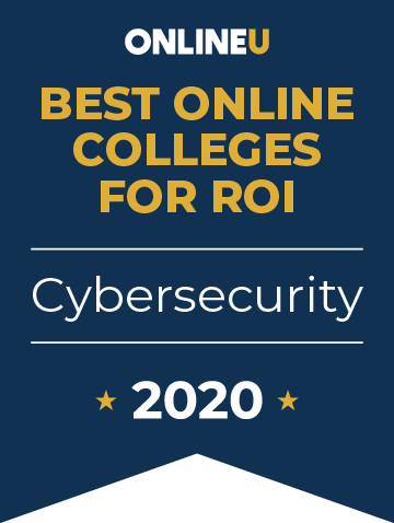 2020 Best Online Colleges Offering Bachelor's in Cybersecurity Badge