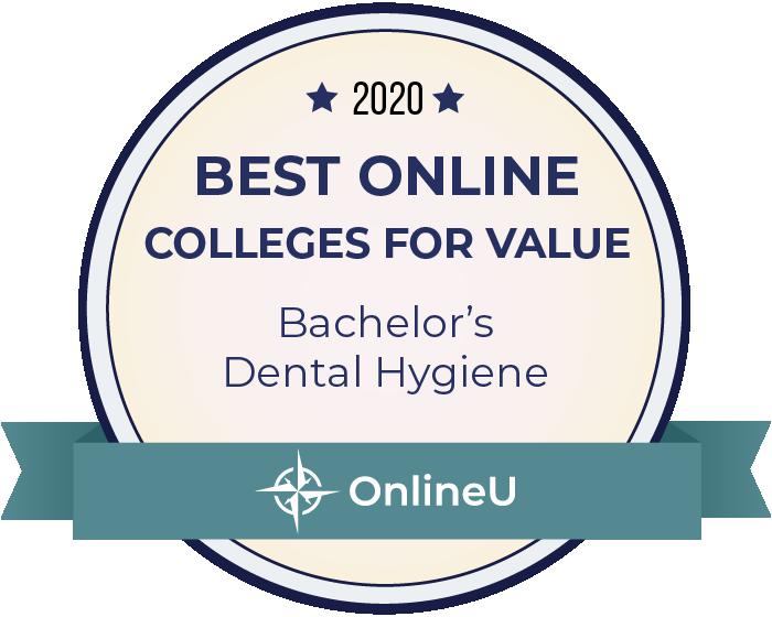 2020 Best Online Colleges Offering Bachelor's in Dental Hygiene Badge