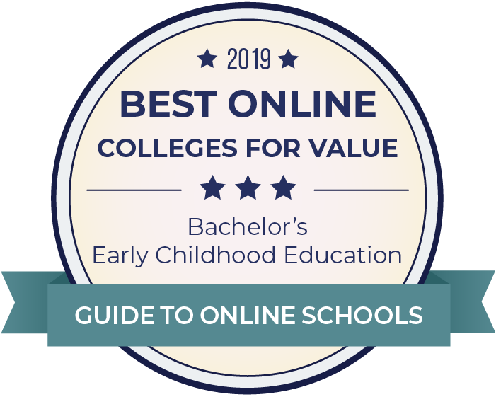 2019 Best Online Colleges Offering Bachelor's in Early Childhood Education Badge