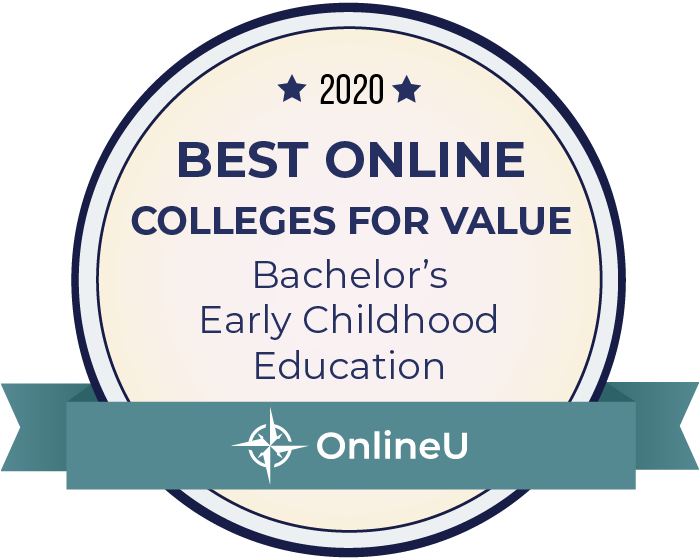 2020 Best Online Colleges Offering Bachelor's in Early Childhood Education Badge