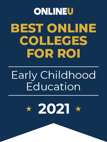 2021 Best Online Colleges Offering Bachelor's Degrees in Early Childhood Education Badge