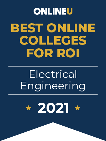 2021 Best Online Colleges Offering Bachelor's Degrees in Electrical Engineering Badge