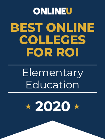 2020 Best Online Colleges Offering Bachelor's in Elementary Education Badge