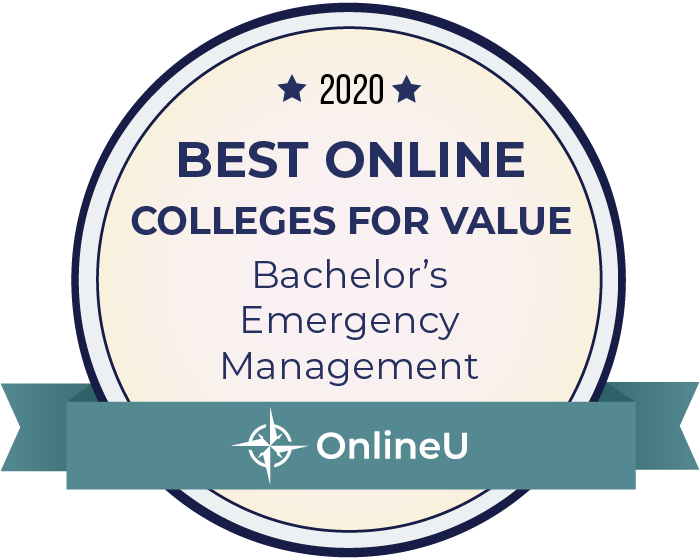2020 Best Online Colleges Offering Bachelor's in Emergency Management Badge