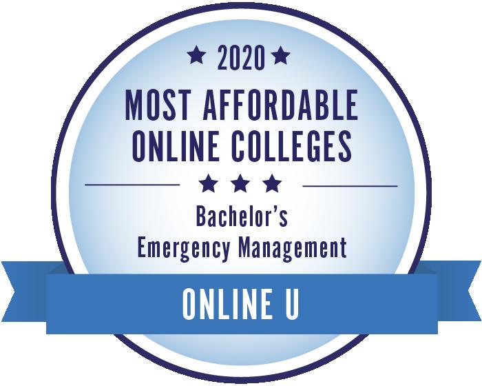 2020 Most Affordable Emergency Management Bachelors Degrees Badge