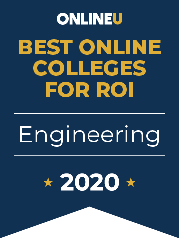 2020 Best Online Colleges Offering Bachelor's in Engineering Badge