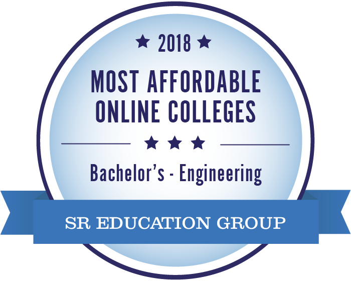 Engineering-Most Affordable Online Colleges-2018-Badge