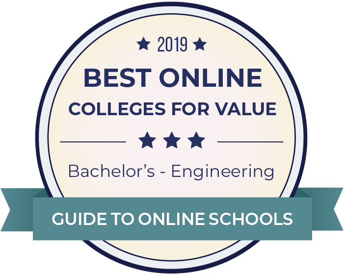 2019 Best Online Colleges Offering Bachelor's in Engineering Badge