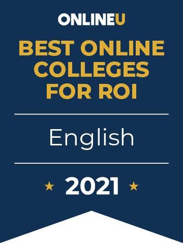 2021 Best Online Colleges Offering Bachelor's Degrees in English Badge