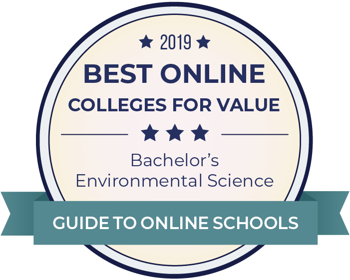 2019 Best Online Colleges Offering Bachelor's in Environmental Science Badge