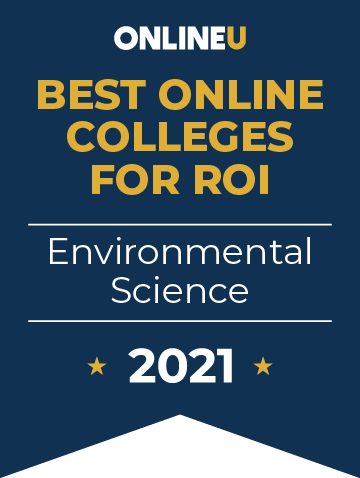2021 Best Online Colleges Offering Bachelor's Degrees in Environmental Science Badge