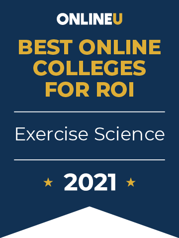2021 Best Online Colleges Offering Bachelor's Degrees in Exercise Science Badge