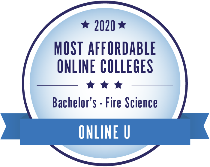 2020 Most Affordable Fire Science Bachelors Degrees Badge