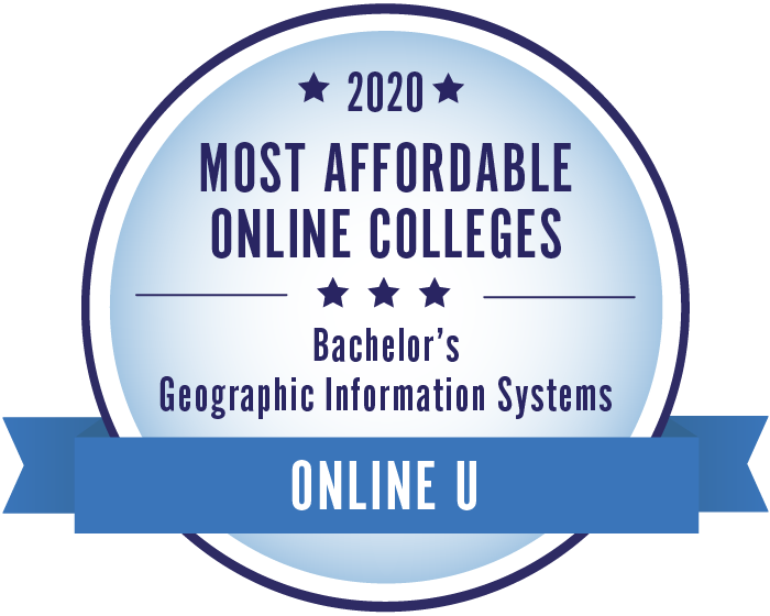 2020 Most Affordable Geographic Information Systems Bachelors Degrees Badge