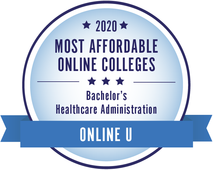 2020 Most Affordable Healthcare Administration Bachelors Degrees Badge