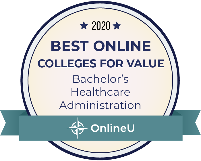 2020 Best Online Colleges Offering Bachelor's in Healthcare Administration Badge