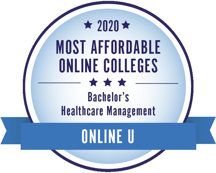 2020 Most Affordable Healthcare Management Bachelors Degrees Badge