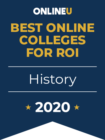 2020 Best Online Colleges Offering Bachelor's in History Badge