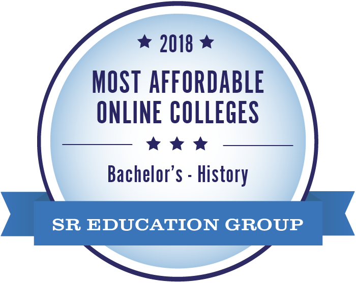 History-Most Affordable Online Colleges-2018-Badge