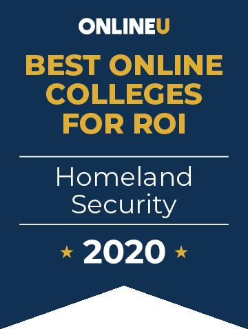 2020 Best Online Colleges Offering Bachelor's in Homeland Security Badge