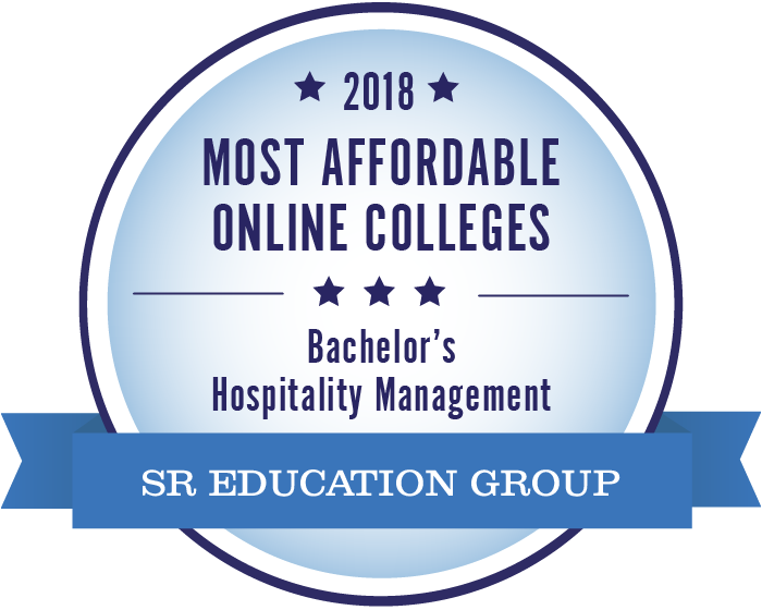 hospitality management most affordable online colleges 2018 badge