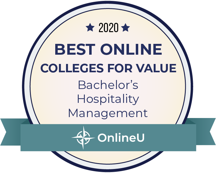 2020 Best Online Colleges Offering Bachelor's in Hospitality Management Badge