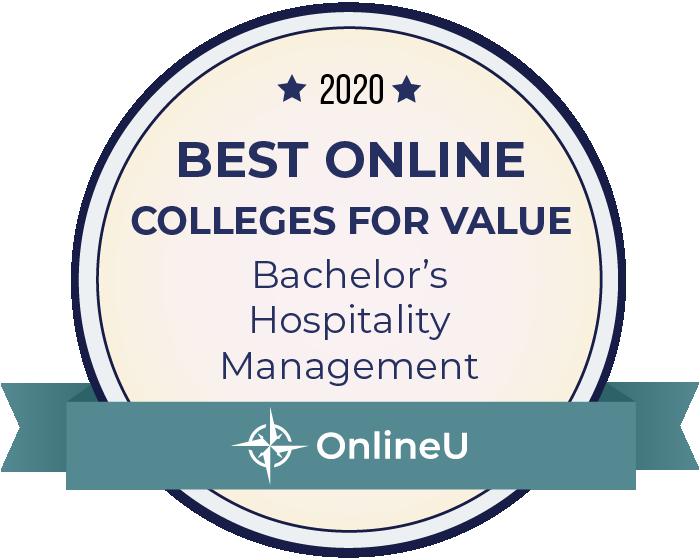 Hospitality Management-Most Affordable Online Colleges-2019-Badge