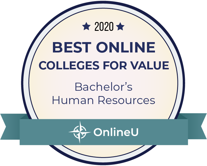 2020 Best Online Colleges Offering Bachelor's in Human Resources Badge