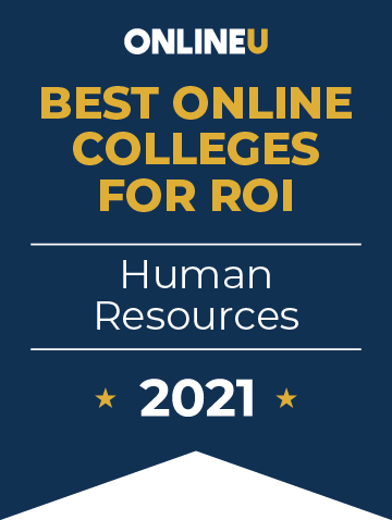 2021 Best Online Colleges Offering Bachelor's Degrees in Human Resources Badge