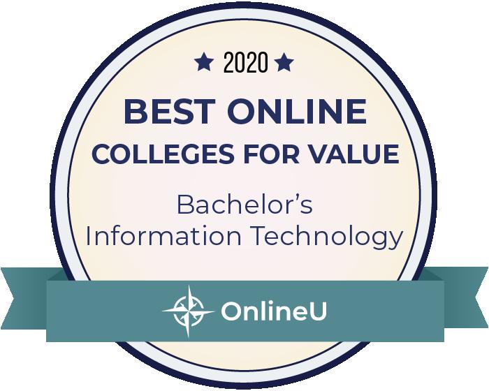 2020 Best Online Colleges Offering Bachelor's in Information Technology Badge