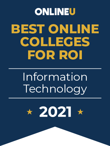 2021 Best Online Colleges Offering Bachelor's Degrees in Information Technology Badge