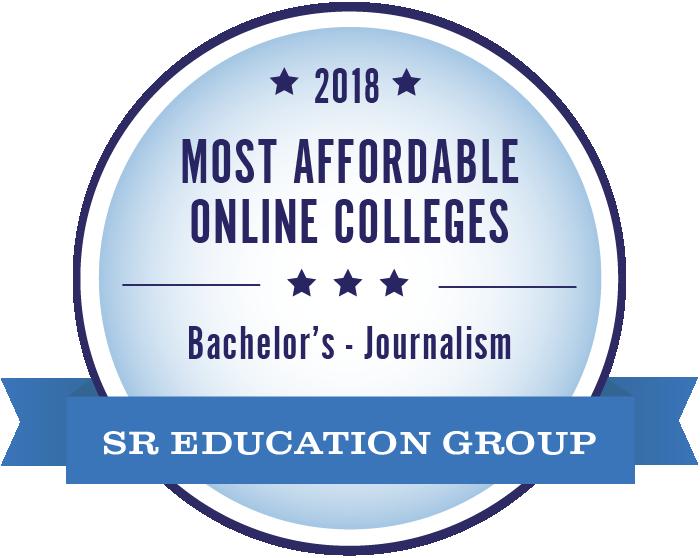 Journalism-Most Affordable Online Colleges-2018-Badge