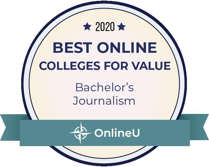 2020 Best Online Colleges Offering Bachelor's in Journalism Badge
