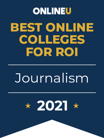 2021 Best Online Colleges Offering Bachelor's Degrees in Journalism Badge