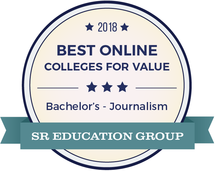 Journalism-Top Online Colleges-2018-Badge