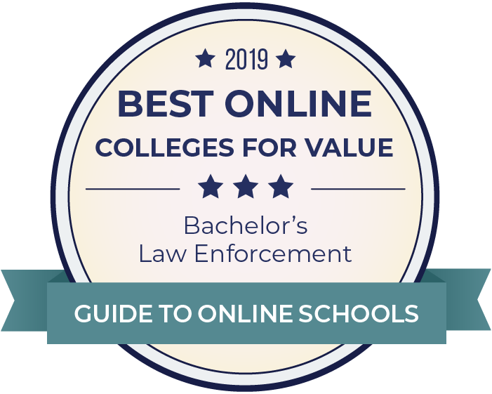 2019 Best Online Colleges Offering Bachelor's in Law Enforcement Badge