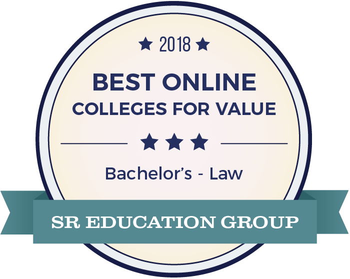Law-Top Online Colleges-2018-Badge