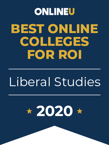 2020 Best Online Colleges Offering Bachelor's in Liberal Studies Badge