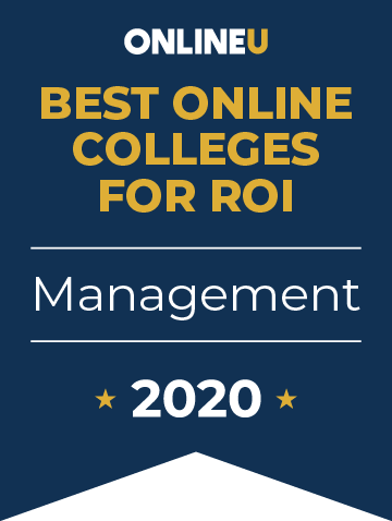 2020 Best Online Colleges Offering Bachelor's in Management Badge