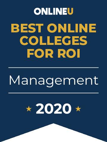 2020 Best Online Colleges Offering Bachelor's in Management Badge