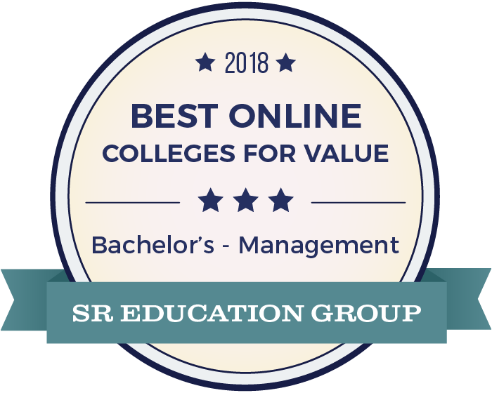 Management-Top Online Colleges-2018-Badge