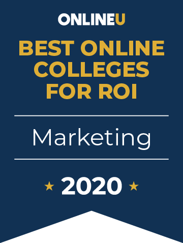 2020 Best Online Colleges Offering Bachelor's in Marketing Badge